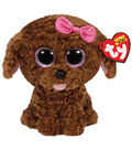 TY Beanie Boo Maddie Brown Dog with Bow