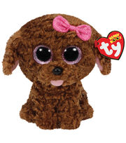 TY Beanie Boo Maddie Brown Dog with Bow, , hi-res