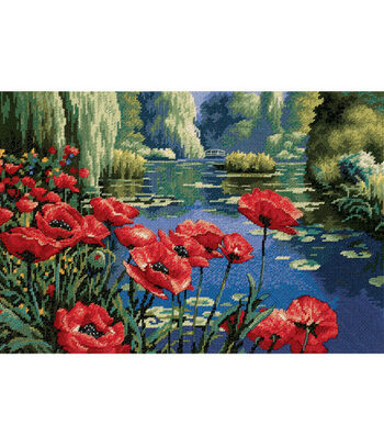 Dimensions Needlepoint Kit Lakeside Poppies