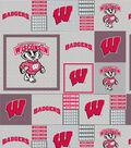 University of Wisconsin Badgers Fleece Fabric 60\u0022-Gray Box