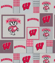 "University of Wisconsin Badgers Fleece Fabric 60""-Gray Box, , hi-res"