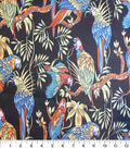 Nicole Miller Twill Fabric-Parrots Black