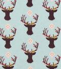 Nursery Flannel Fabric 42\u0022-Stag Head