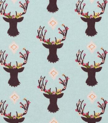 "Nursery Flannel Fabric 42""-Stag Head"