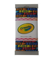 Crayola® Fabric 1yd Cut-Linear Crayons Black, , hi-res