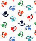 Nursery Cotton Fabric 43\u0022-All Over Monkey
