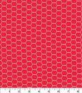 Quilter\u0027s Showcase Cotton Fabric 44\u0027\u0027-Red Hexagon Wire