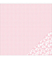 American Crafts Basics Diamond Light Pink Double-Sided Cardstock, , hi-res