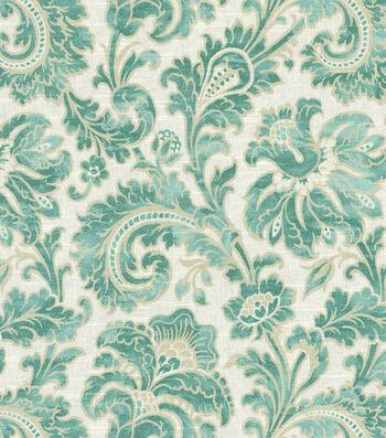 "Swavelle Millcreek Print Fabric 54""-Boxtree Lynwood Aquamarine"