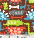 Novelty Cotton Fabric-Dinosaurs