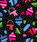 Easy Wash & Care Fabric 42\u0022-Black and Pink