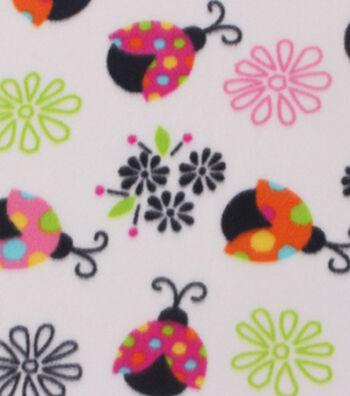 "Blizzard Fleece Fabric 59""-Bright Lady Bug"