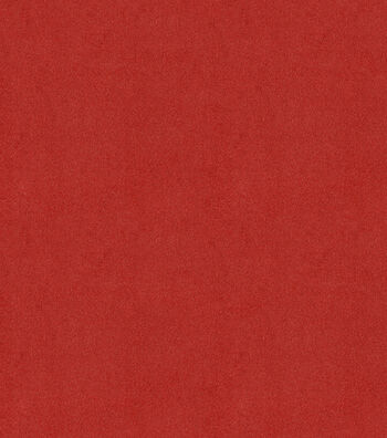 "Signature Series Solid Faux Suede Fabric 58""-True Red"
