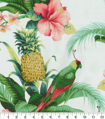 Tommy Bahama Outdoor Print Fabric 54''-Lush Green Beach Bounty