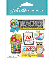 Jolee's Boutique Dimensional Stickers-Teacher, , hi-res