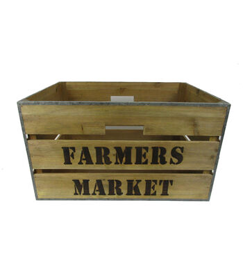Farm Storage Large Wooden Box-Farmers Market