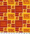 University of Southern California Trojans Cotton Fabric 43\u0022-Block