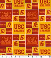 "University of Southern California Trojans Cotton Fabric 43""-Block, , hi-res"