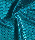 Yaya Han Cosplay Metallic Fabric 59\u0027\u0027-Turquoise Scales