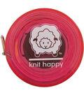Knit Happy Tape Measure 60\u0022-Pink
