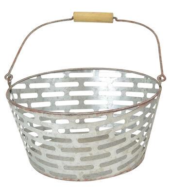 Farm Storage Large Galvanized Bucket