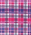 Snuggle Flannel Fabric 42\u0027\u0027-Purple & Pink Plaid
