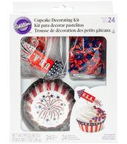 Wilton® 4th of July Cupcake Decorating Kit-Rocket, , hi-res