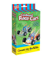 Creativity for Kids Cardboard Race Cars, , hi-res