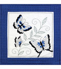 Janlynn Quilt Blocks Stamped Embroidery Butterfly