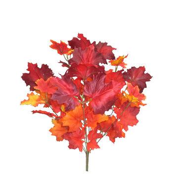 Blooming Autumn 20'' Maple Leaves Bush-Burgundy & Orange