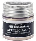 Prima Marketing Art Alchemy 1.7 oz. Acrylic Paint-Opal Magic Violet-Gold