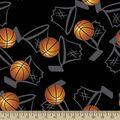 Basketball Hoops Print Fabric