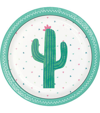 Cactus 8 pk 9''x9'' Dinner Plates
