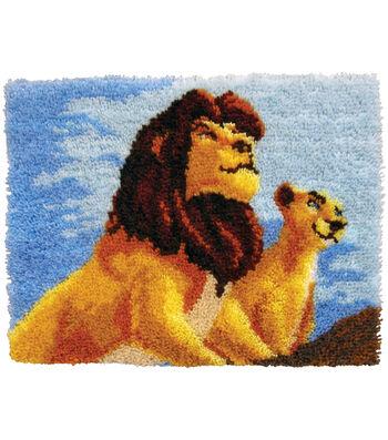 "Disney Dreams Latch Hook Kit 27""X20""-Lion King"