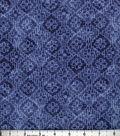Buttercream™ Poppy Collection Cotton Fabric-Tonal Aztec Navy