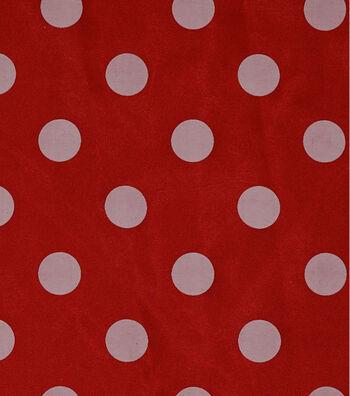 "Glitterbug Satin Fabric 56""-Polka Dot Red"