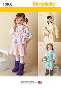 Simplicity Pattern 1288A 1/2-1-2-3--Toddler Dress