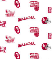 "University of Oklahoma Sooners Cotton Fabric 44""-White All Over, , hi-res"
