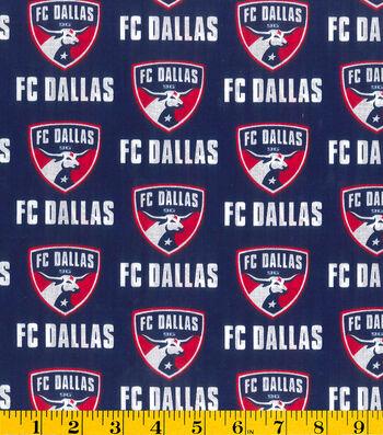 """FC Dallas Cotton Fabric 58""""-Logo"""