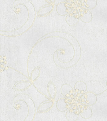 "Home Decor 8""x8"" Fabric Swatch-Waverly Candlewicking Classic/White"
