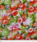 Tropical Shirting Fabric 53\u0022-Hibiscus