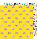 American Crafts Box of Crayons 25 pk 12\u0027\u0027x12\u0027\u0027 Cardstock-Cat\u0027s Meow
