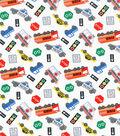 Novelty Cotton Fabric 43\u0022-Transportation Vehicles