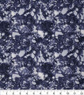 Keepsake Calico Glitter Cotton Fabric 43\u0027\u0027-Dark Blue Snake Skin Crackle