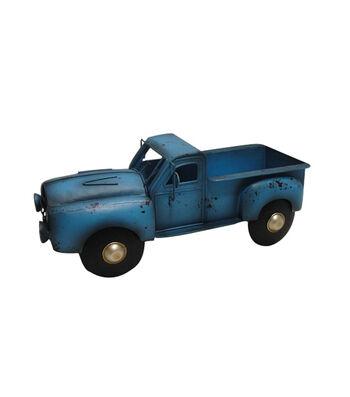 Bloom Room Metal Truck Planter-Blue