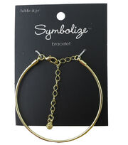 hildie & jo™ Symbolize 7'' Gold Bangle Bracelet, , hi-res