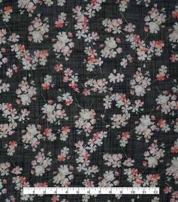 """Silky Gauze Fabric 56""""-Asian Floral"""