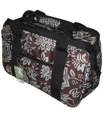 """JanetBasket Blue Floral Eco Bag-18"""" x 10"""" x 12"""""""