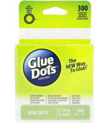 Glue Dots .1875 Mini Dot Roll-300 Clear Dots