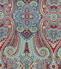 Waverly Upholstery Fabric-Paisley Pizzazz Heritage